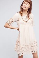 NWT Anthropologie Magnolia Lace Dress Pink 10 Holding Horses M