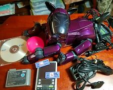 Sony AIBO ERS-210 Custom Purple Paint job robot dog w/ Accessories & programs