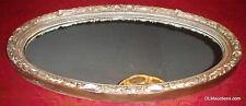 """Vintage Antique Victorian Oval Gold Gilt Wood Floral Wall Mirror - 39-1/2"""" WIDE!"""