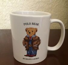 Ralph Lauren 1997 Polo Bear Western Polo Ranch Bear Coffee Cup 12 0z.