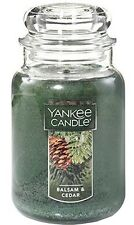 YANKEE CANDLE Balsam and Cedar Large 22 oz Classic Jar *Free Shipping*