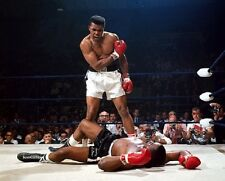 "Muhammad Ali standing over Sonny Liston Boxing 8""x 10"" Photo"