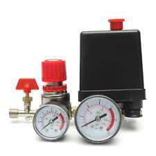 New Air Compressor Pressure Switch Valve Manifold Regulator Gauges 7.25-174PSI