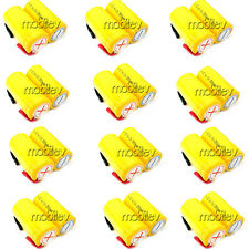 24 x SubC Sub C NiCd 2500mAh Rechargeable Battery Tab Y