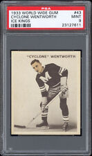 1933 World Wide Gum Ice Kings #43 Cyclone Wentworth PSA 9 MINT Pop 1