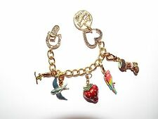 Sold Out $295 New Juicy Couture Charm Bracelet Limited 2005 Edition 5 Charms