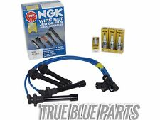 Set Of NGK Wires And 4 Platinum Spark Plugs For 98-02 Honda Accord 2.3L SOHC