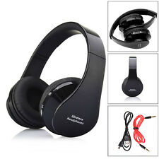 Foldable Wireless Bluetooth & 3.5mm Stereo Headset Handsfree Headphones With Mic