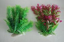 Acuario 2 x Tropical Plástico Plantas aprox. 16cm apta para todos los acuarios