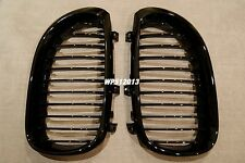 PIANO GLOSS BLACK Front Hood Grilles Grille 04-10 FOR E60 530i 535i 528i M5 550