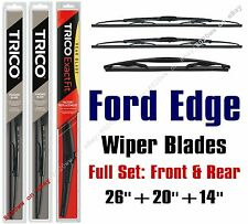 2007-2014 Ford Edge Wipers 3pk Standard Wiper Blades Front/Rear 30260/30200/14D