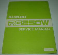 Werkstatthandbuch Suzuki RG 250 W Service Manual Stand September 1983