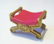 PLAYMOBIL (H142) PAYS MAGIQUE - Siège Tabouret Rose Doré Tente Royale 3837 3020