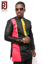 Men's African Fashion wear/Kente Multicoloured Long Sleeve Shirt/Men's Clothing