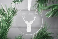 Merry Christmas Decoration Ornament, Glass Christmas Decoration, First Christmas