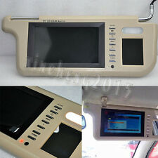 "Pair 12V 7"" Car Sun visor Rear View Mirror Screen Lcd Monitor DVD/VCD/GPS/TV"