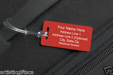 10 Personalized Engraved Plastic Luggage/Sport/I.D. Tags. Engraved&Shipped Free
