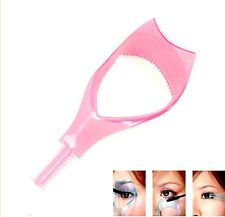 3 in 1 Mascara Guard Eyelash Brush Curler Lash Comb Cosmetic Makeup Applicator