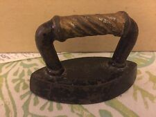 Antique Cast Iron Minature Children's Iron Clothes Iron