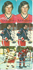 1976 Topps Hockey Inserts (13) with Orr, Esposito, etc. VG-EX