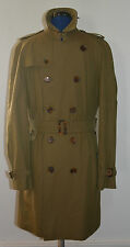 NWT BURBERRY LONDON $1395 MENS DOUBLE BREASTED TRENCH COAT JACKET US 40 EU 50
