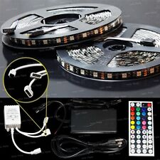 10M 5050SMD RGB LED Color Change Strip Light Kit 44 Key Remote 2 Outlet 5A Power