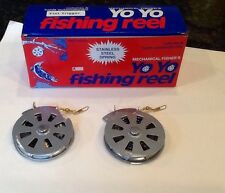 Lot 2 Mechanical Fisher's Automatic Yo Yo Fishing Reel Survival Camping Prepper
