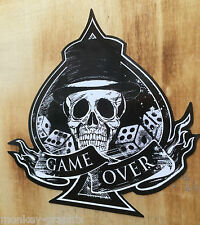 Old school sticker Game Over skull retro autocollant hotrod pickup v8 muscle car