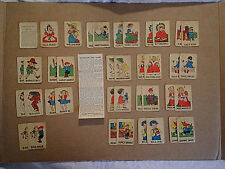 1945 OLD MAID CARD GAME,Russell,melon moe,bill pig,lily white,miss muffett,sweet