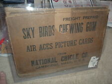1934 National Chicle Sky Birds Gum Co Partial Shipping Case