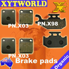 FRONT REAR Brake Pads for Suzuki LT-A 500 FK2 Vision 4WD 2002