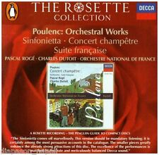 Poulenc: Musica Orchestrale (Orchestral Works) / Charles Dutoit, Pascal Roge' CD