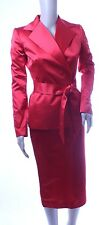 Dolce & Gabbana Red Satin Skirt Suit NEW WITH TAGS Size 38 / US 2