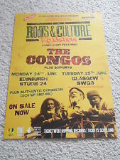 THE CONGOS - live music concert gig tour poster