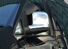 CHROME DOOR WING MIRROR TRIM SET COVERS SURROUNDS - VW VOLKSWAGEN T5 TRANSPORTER
