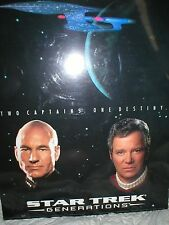 Star Trek Generations wall large wall plaque Two Captains One Destiny