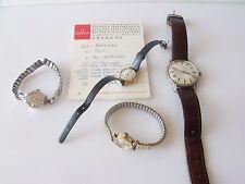 Colección de Vintage relojes de pulsera ROLEX TUDOR/ETERNA/9CT oro OMEGA