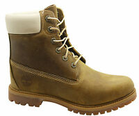 Timberland 6 Inch Premium Womens Boots Lace Up Leather Light Brown 8229A T3