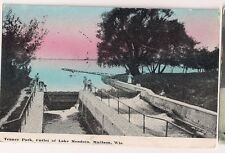 Tenney Park Outlet of Lake Mendota Madison WI Wisconsin  Postcard