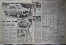 1978 Mini 1000 Auto Original Motor magazine Road test