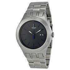 Swatch YTS410G 44mm Silver Steel Bracelet & Case Mineral Men's Watch