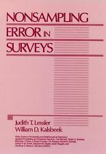 Wiley Series in Probability and Statistics: Nonsampling Error in Surveys 283...