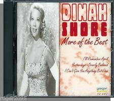 Dinah Shore - More of the Best - New 12 Song, 1996 LaserLight/Stanyan CD!