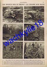 Le miroir n°109 26/12/1915 chasse aux Rats Salonique Zeinitlik Doiran Pozzacchio