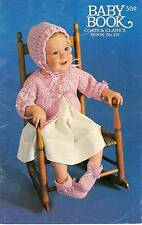 Vintage Crochet Knit PATTERNS Book Baby Sets Sacque bootees cap blankets