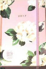 New Ban.do 2016-2017 Agenda Planner Floral Hardcover Bando Pink Flowers