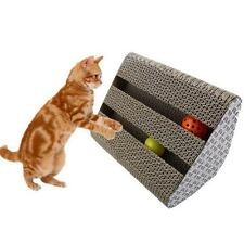 CAT KITTEN FURNITURE CORRUGATED SCRATCHER BOARD PAD BALL CLAWS CAER TOYS QUALITY