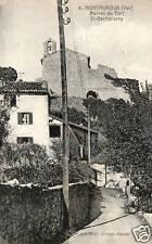 CPA 83 MONTAUROUX   ruines du fort st barthélemy