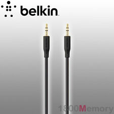 BELKIN Essential Stereo 3.5mm to 3.5mm AUX Audio Speaker Cable 2m 6ft Gold Plug