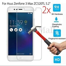 2Pcs 9H+ Tempered Glass Screen Protector For Asus Zenfone 3 Max ZC520TL 5.2''